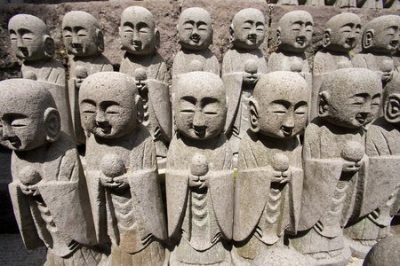 kanagawa: KAMAKURA - Buddha sculptures at Hase Kannon Temple, in Kamakura, Kanagawa, Japan
