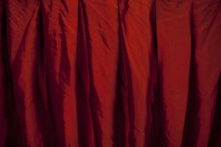 Red velvet curtain Stock Photo - 15695969
