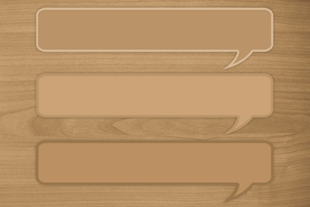tripple: 3 quote text on brown wooden background