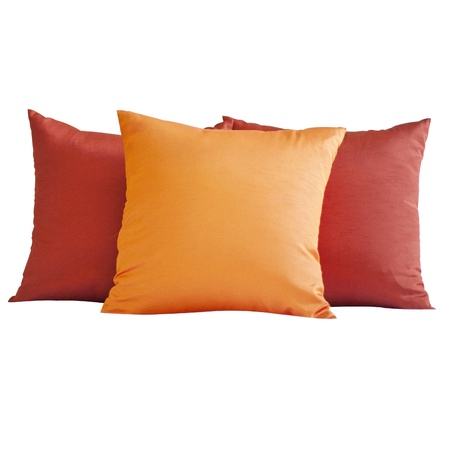 red pillows: Colorful Pillow isolated on white background Stock Photo