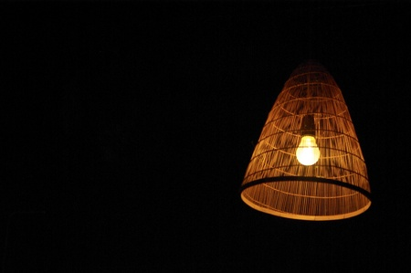 interior designer: Bulb with bamboo wood cover
