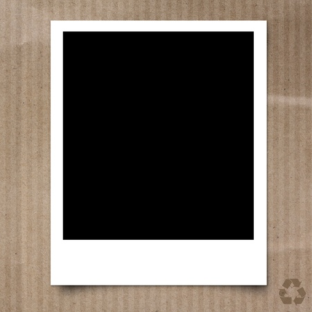 polaroid frame: Photo frame on Recycle paper texture background Stock Photo