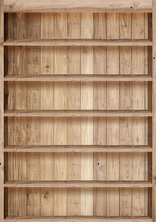 Wood bookshelves vintage