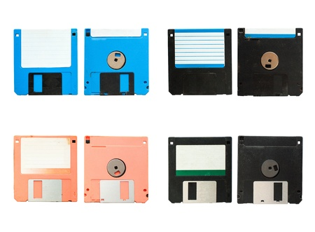 Old vintage floppy disc A 4 style photo