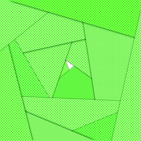 Green origami maze abstract background photo