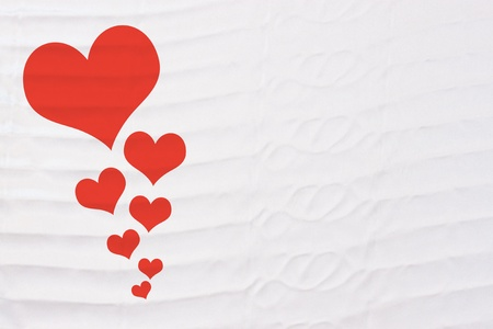 Valentine's day heart on linen fabric background for put text detail Stock Photo - 17887348