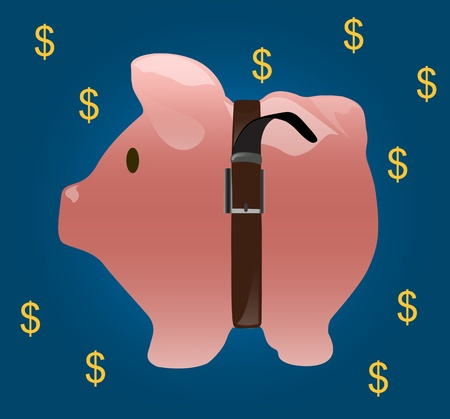 Saving money with pig coin bank Stock Photo - 19161653