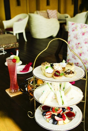Afternoon british high tea photo