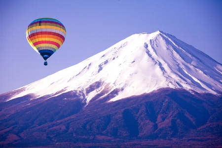 Balloon on mount fuji from japan photo
