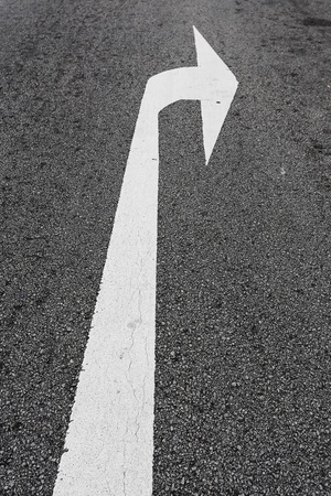 Arrow direction on the road photo