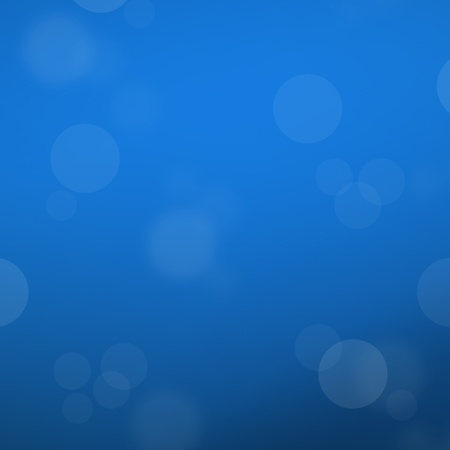 Abstract blue template background with bokeh light bubble photo