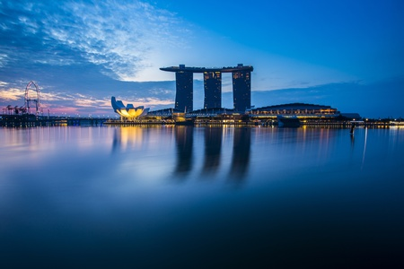 Marina Bay view with twilight  Singapore photo