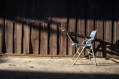 desolation: Old chair with lighting