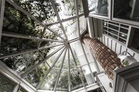 invernadero: Techo de cristal de la vendimia