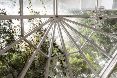 double glazing: Vintage glass roof