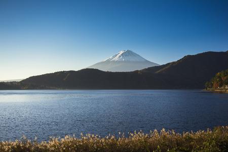 saiko: Mount Fuji with lake view Stock Photo