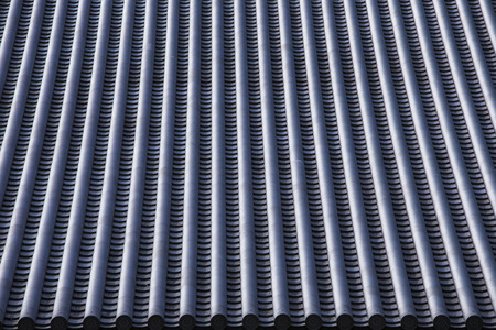 damaged roof: Japan temple rooftop Stock Photo