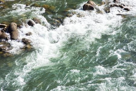 ogimachi: River front of shirakawa-go Japan