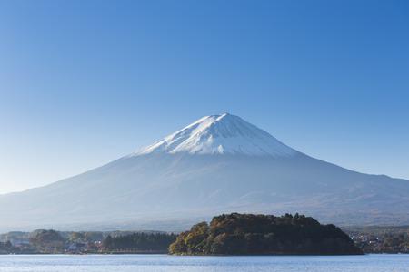 Mt. Fuji with lake. Kawaguchi-ko. Yamanashi. Japan Stock Photo - 26051393