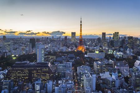 metropolitan: Tokyo cityspace sunset view