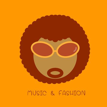 funk: Afro icon Illustration