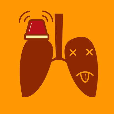lung: Lung urgent with siren Illustration
