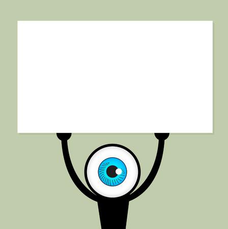 ojo azul: El ojo azul anuncio espect�culo papel. Vectores