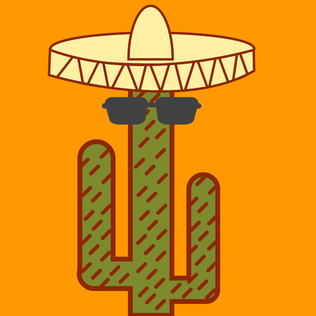 Cactus mexican icon Vector