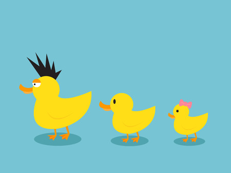 duck feet: Ducks family