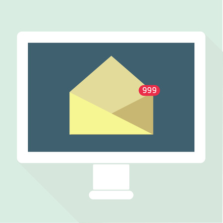 Email Notification flat design Vector