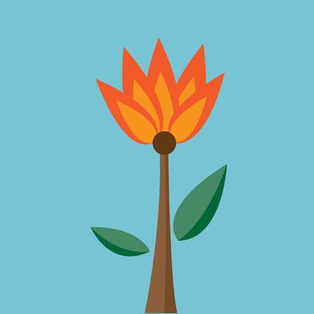 lilium: Fire flower Vector