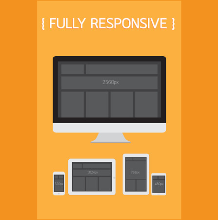 Fully Responsive Design. Stock Vector - 26241776