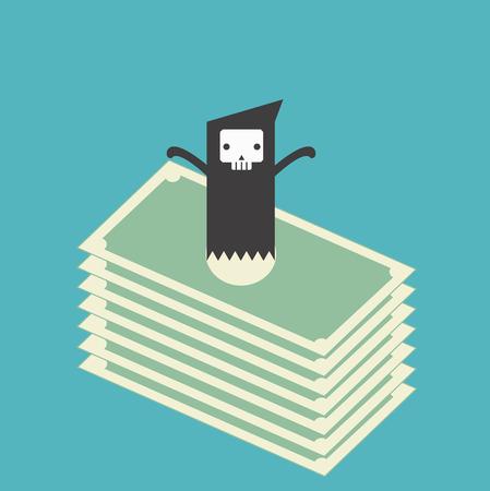 money rain: Death or ghost money