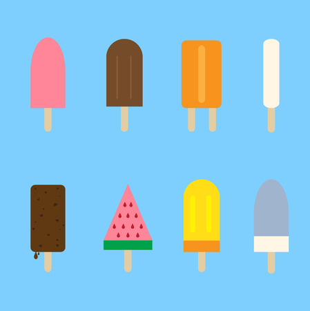 mixed nuts: Ice cream set Illustration