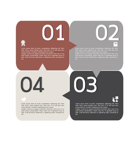 progress steps: Retro infographic progress number for business vintage color style