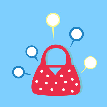 Lady bag infographic Vector