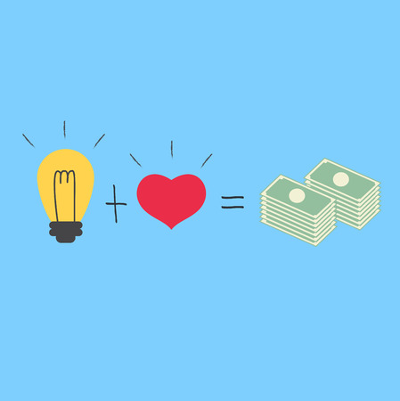 Love with idea way to Millionaire Vector