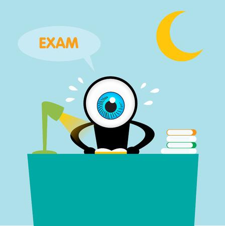 ojo azul: El libro de lectura del ojo azul para el examen Vectores