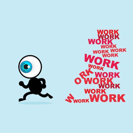 rekolekcje: Niebieskie oko ucieczki dla wielu prac Ilustracja