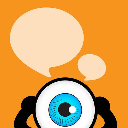 ojo azul: La charla ojo azul con la cita de la burbuja