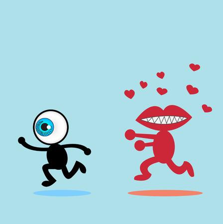 runaway: El ojo azul fugitivo La boca roja