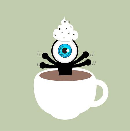 ojo azul: El ojo azul en la taza de caf�