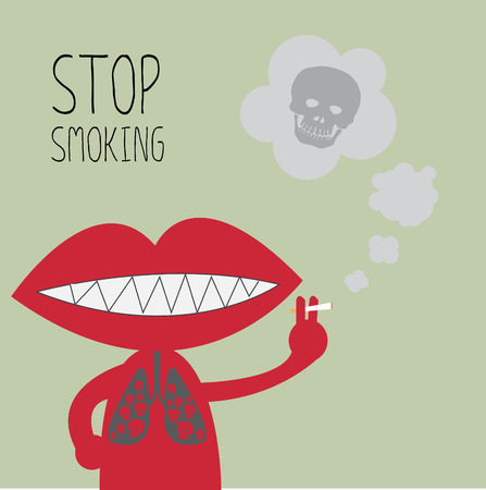 cigarette smoke: Stop smoking.  Illustration