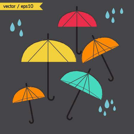 Umbrella weather rainy day. Vector