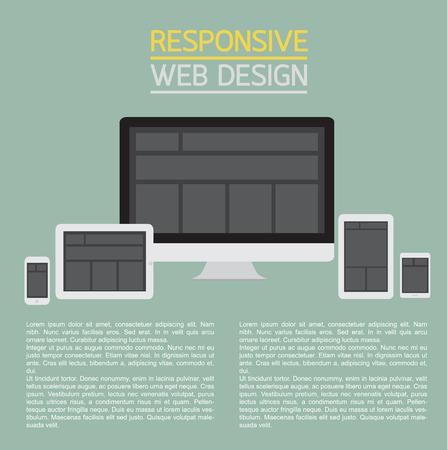 Responsive web design.  Vector