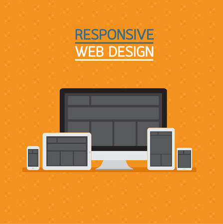 responsive design: Responsive web design. Illustration