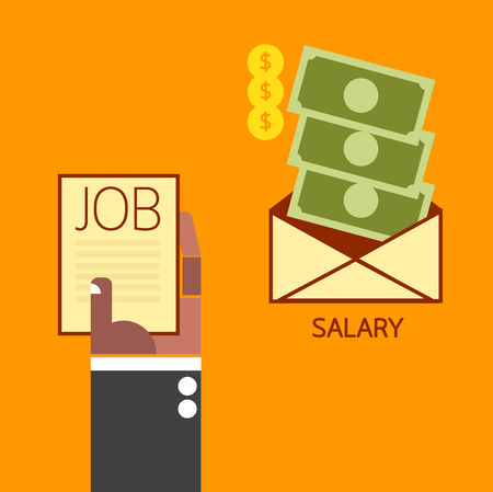 salary: Salary concept Illustration
