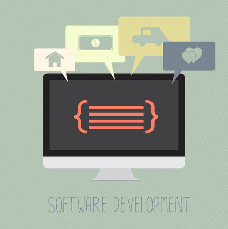 Software development coding work for dream. Vector