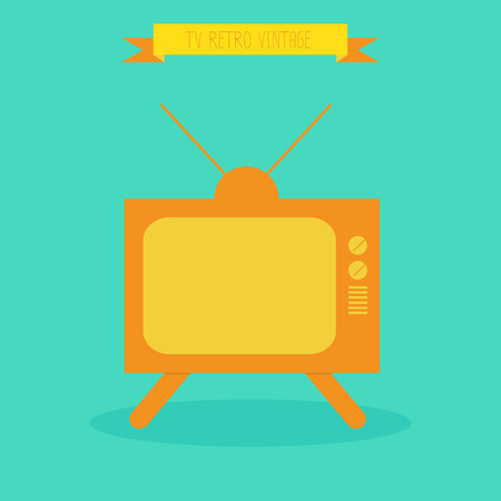 Television TV Retro. vector. eps10 Vector