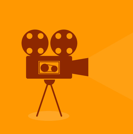 Video vintage retro single icon Vector